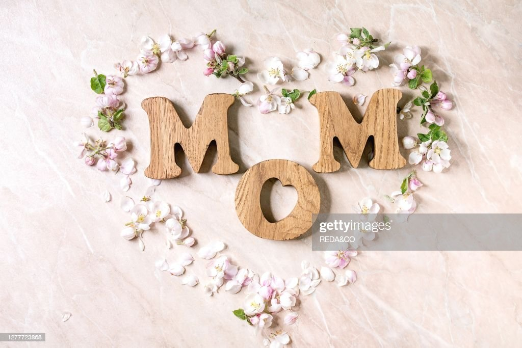 Mother S Day Greeting Card Wooden Letters Mom With Spring Apple News Photo Getty Images
