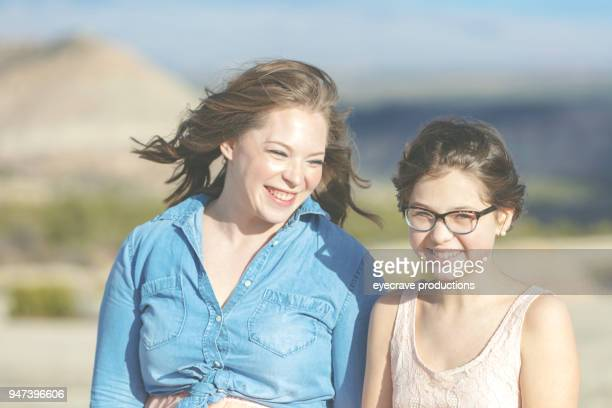 Mother's Day - Young Family Mother and Daughter Outdoors Evening In Colorado West