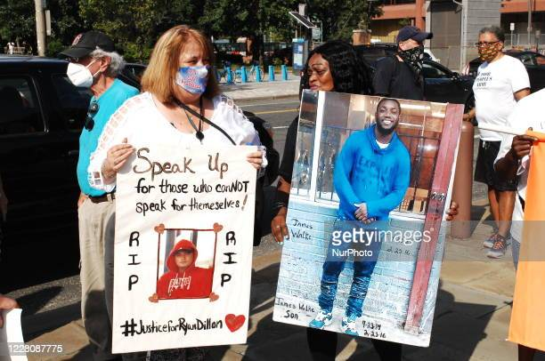 Mothers demand an end to gun violence in Philadelphia, PA, on August 17, 2020.