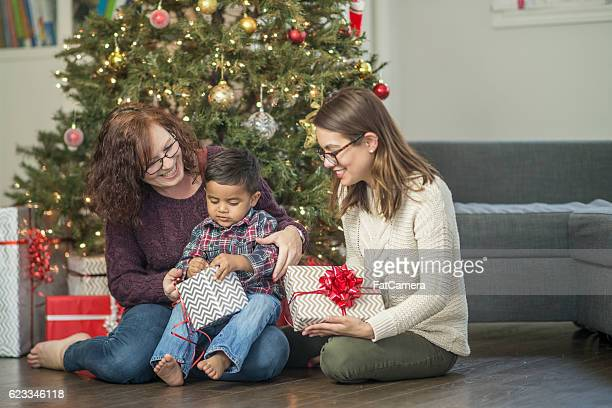Mothers Giving Their Son a Gift
