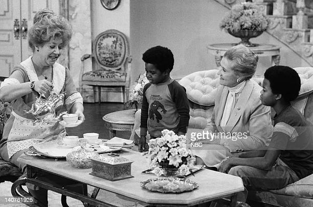 RENT STROKES 'Mother's Last Visit' Episode 3 Pictured Charlotte Rae as Edna Garrett Gary Coleman as Arnold Jackson Irene Tedrow as Mrs Drummond Todd...