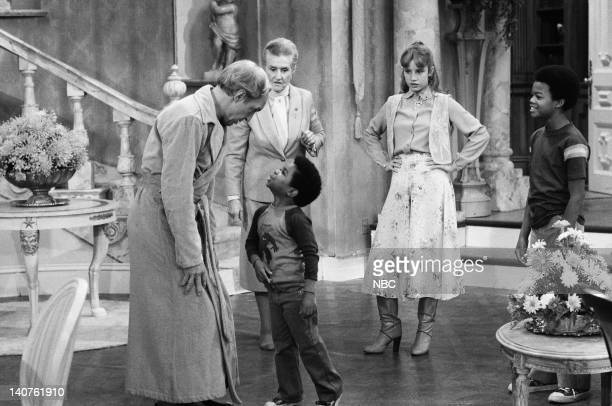 RENT STROKES Mother's Last Visit Episode 3 Pictured Conrad Bain as Philip Drummond Gary Coleman as Arnold Jackson Irene Tedrow as Mrs Drummond Dana...