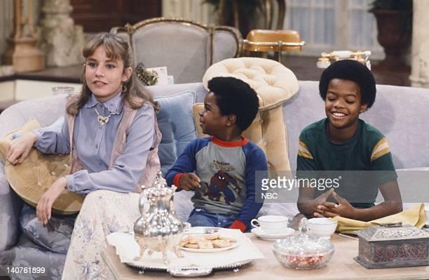"Mother's Last Visit"" Episode 3 -- Pictured: Dana Plato as Kimberly Drummond, Gary Coleman as Arnold Jackson, Todd Bridges as Willis Jackson -- Photo..."