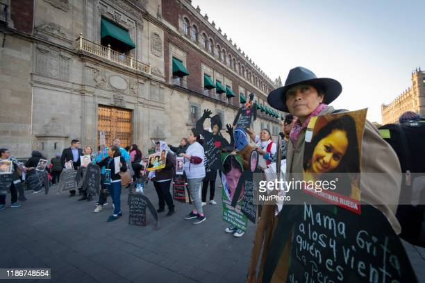 Mothers members of the National Search Group in life for our missing people protest outside of Mexican National Palace on December 04 2019 The group...
