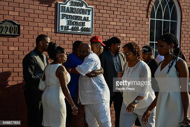 Mothers of children killed by police officers at Delrawn Small Dempsey's Funeral at Harmony Funeral Home 2200 Clarendon Road