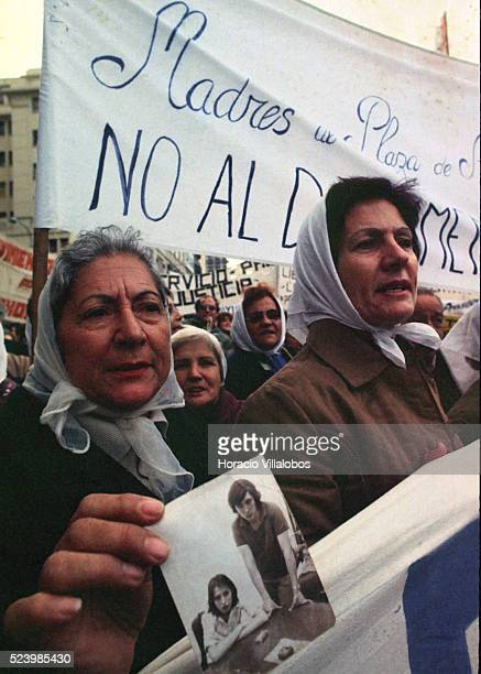 Mothers of people gone missing during Argentina's Dirty War stage a protest in Buenos Aires in 1983 A 1976 coup resulted in a 7year military...