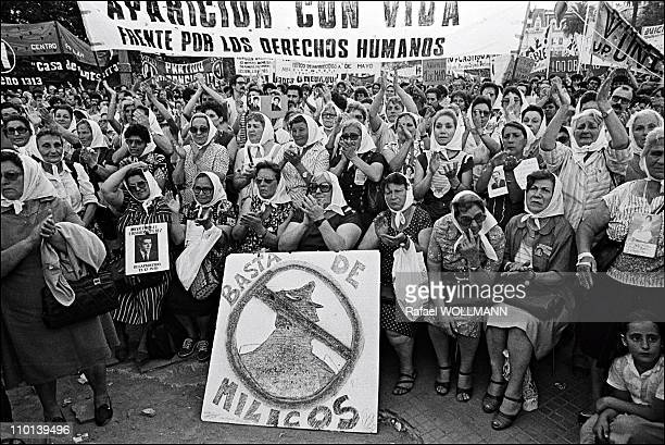 Mothers of Plaza de Mayo in Buenos Aires Argentina on December 3 1986