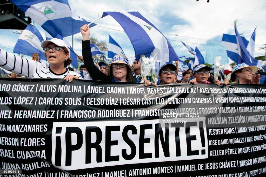 NICARAGUA-POLITICS-PROTESTS : News Photo