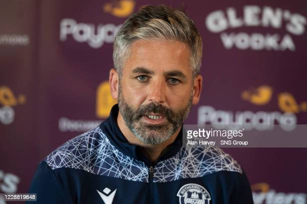 Motherwell assistant manager Keith Lasley during a Motherwell Press Conference at Fir Park on October 1 in Motherwell, Scotland.