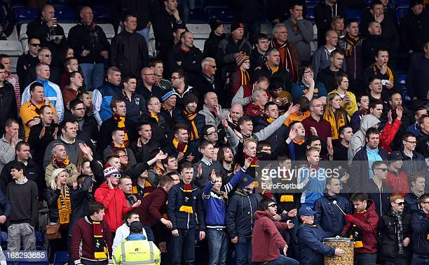 Motherwell FC supporters enjoy the Clydesdale Bank Scottish Premier League match between Inverness Caledonian Thistle FC and Motherwell FC at The...