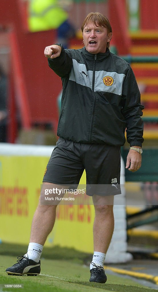 Motherwell manager Stuart McCall during the SPL match between Motherwell and St Mirren at Fir Park on August 26, 2012 in Motherwell, Scotland.