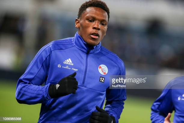 Mothiba Lebo during the French Ligue 1 football match between Strasbourg and Toulouse on November 3 2018 at the Meinau stadium in Strasbourg eastern...
