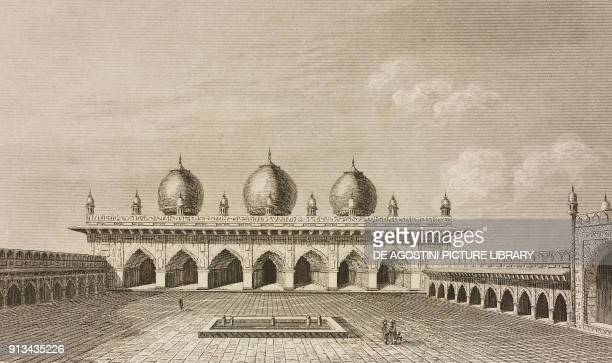 Moti Masjid Agra Fort India engraving by Lemaitre from Inde by Dubois De Jancigny and Xavier Raymond L'Univers pittoresque published by Firmin Didot...