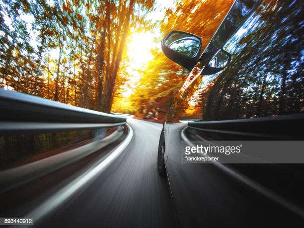 motion blur car on the road