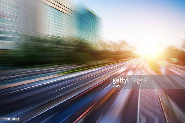 Motion blur image of traffic