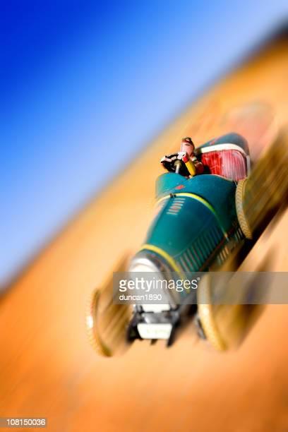 Motion Blur of Antique Toy Car