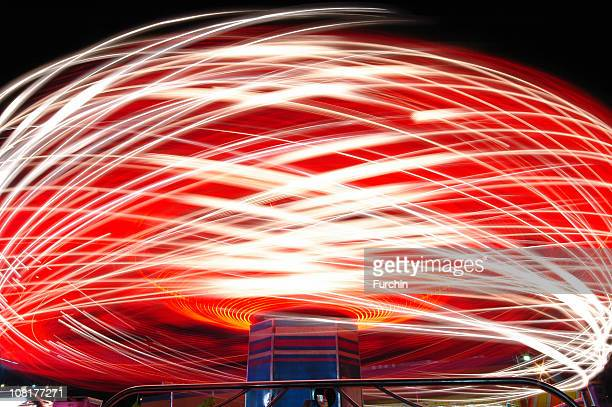 Motion Blur of Carnival Ride at Night