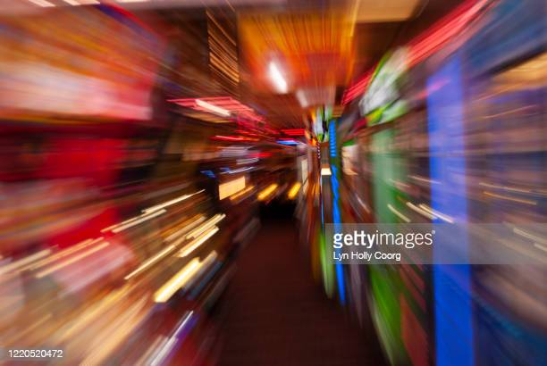 motion blur of coloured lights - lyn holly coorg stock pictures, royalty-free photos & images