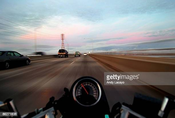 Motion blur on a motorcycle