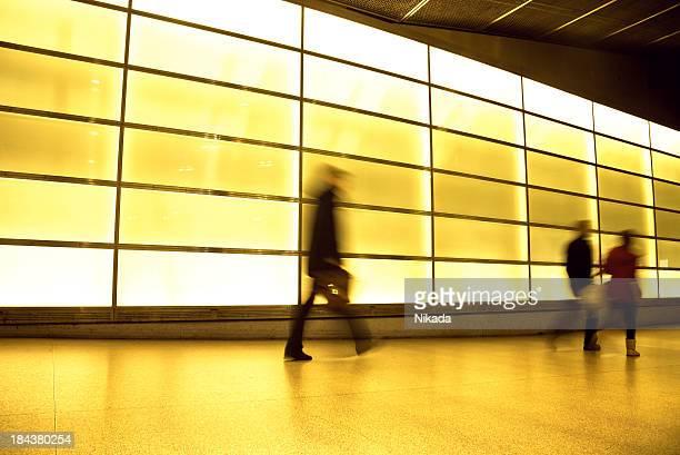 Motion blurred commuter