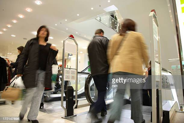 Motion Blurred Customers in Shopping Mall