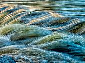 motion blurred water stream