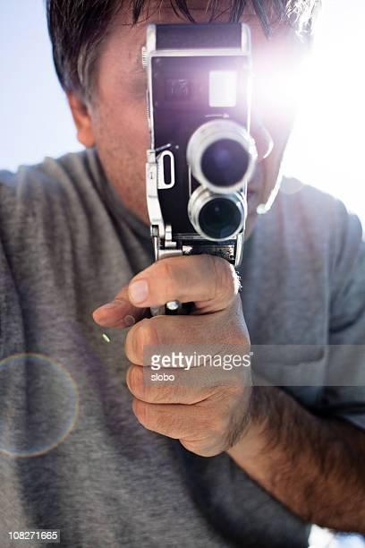 movimento macchina fotografica in mano film - obsoleto foto e immagini stock