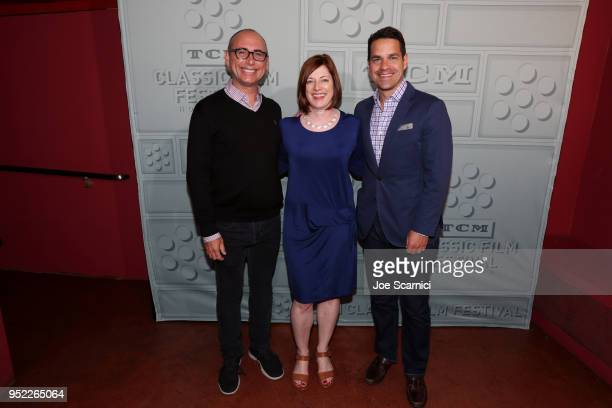 Motion Picture Archivist Todd Wiener TCM VP Brand Activation Partnership Genevieve McGillicuddy and TCM host Dave Karger attend the screening of...