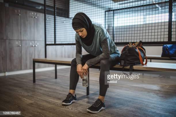 成功のための動機 - スポーツバッグ ストックフォトと画像