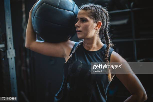 motivated for success - medicine ball stock pictures, royalty-free photos & images