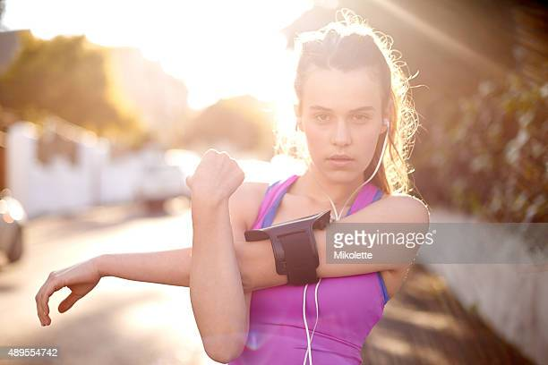Motivated to achieve her fitness goals