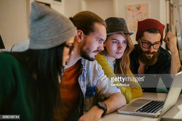 motivated young group of coworkers working togheter