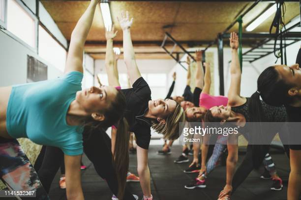 motivation for healthy living - circuit training stock photos and pictures