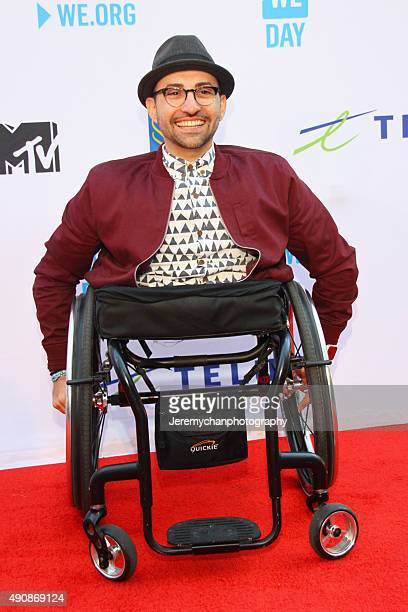 Motivational speaker Spencer West attends WE Day Toronto at the Air Canada Centre on October 1 2015 in Toronto Canada