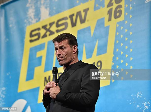"""Motivational speaker Tony Robbins attends the screening of """"Tony Robbins: I Am Not Your Guru"""" during the 2016 SXSW Music, Film + Interactive Festival..."""