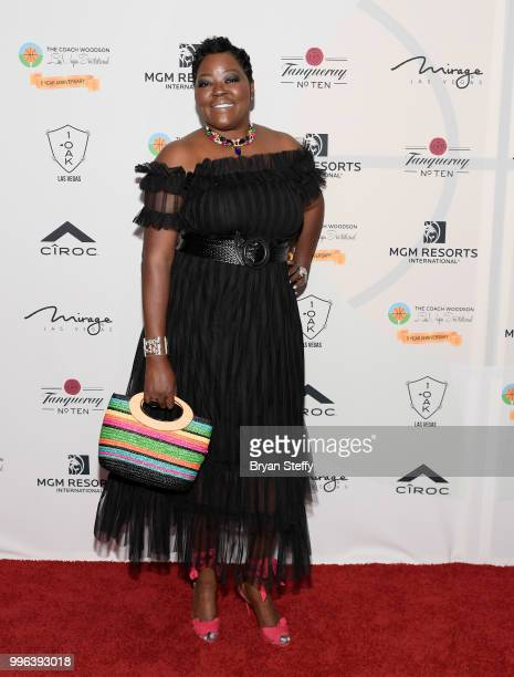 Motivational speaker Wanda Durant attends the 5th Anniversary gala for the Coach Woodson Invitational presented by MGM Resorts International and...