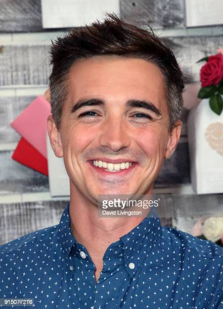 Motivational speaker/TV personality Shane Feldman visits Hallmark's 'Home Family' at Universal Studios Hollywood on February 6 2018 in Universal City...
