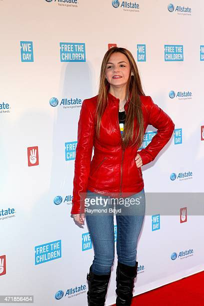 Motivational youth speaker Ashley Rose Murphy poses for photos on the red carpet during 'We Day' at the Allstate Arena on April 30 2015 in Rosemont...