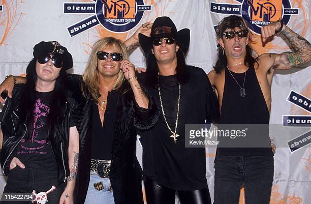 Motley Crue during 1990 MTV Video Music Awards at Universal Amphitheater in Los Angeles California United States