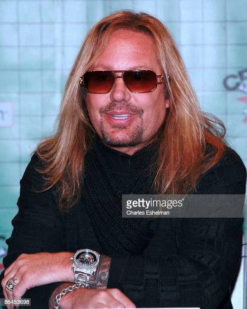 Motley Crue' Vince Neil attends a press conference held by Motley Crue to announce Crue Fest 2 at Fuse on March 16 2009 in New York City