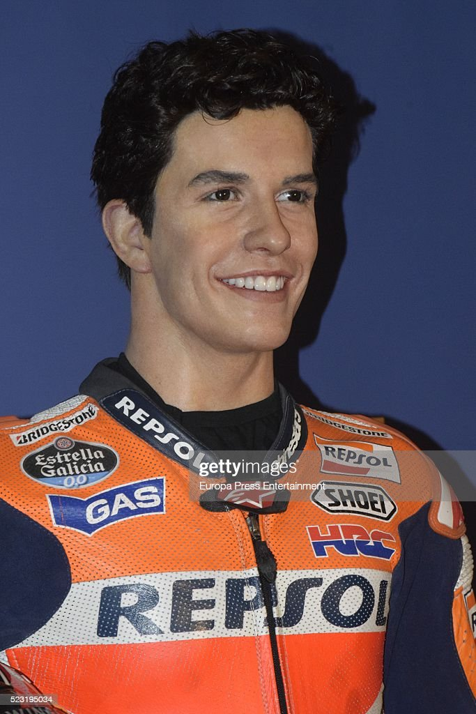 Moto GP rider Marc Marquez's wax figure is displayed at Wax Museum on April 21, 2016 in Madrid, Spain.