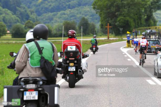Moto Regulator / during the 70th Criterium du Dauphine 2018 Stage 4 a 181km stage from ChazeysurAin to LansenVercors 1409m on June 7 2018 in...