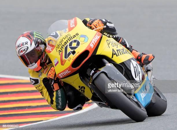 Moto2 Fahrer Alex Rins, Spanien, Kalex waehrend des Trainings beim MotoGP auf dem Sachsenring in Hohenstein-Ernstthal, Deutschland. Search:...