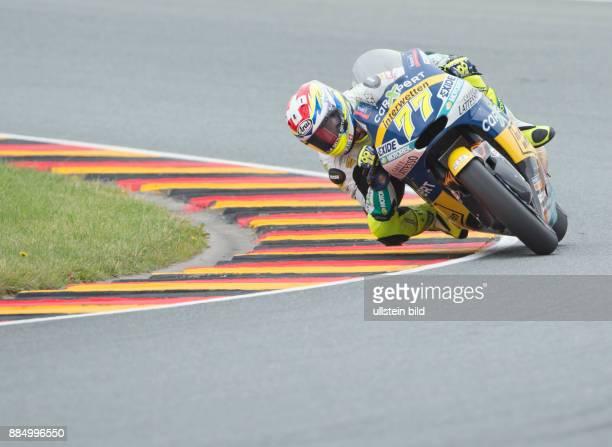 Moto2 Fahrer Dominique Aegerter Schweiz Kalex waehrend des Trainings beim MotoGP auf dem Sachsenring in HohensteinErnstthal Deutschland Deutschland...