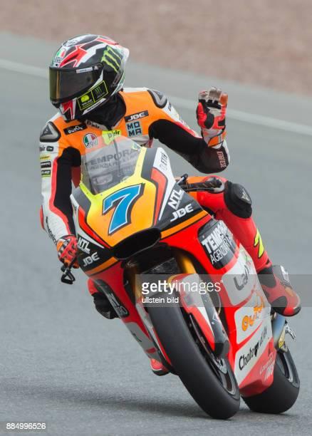 Moto2 Fahrer Lorenzo Baldassarri Italien Kalex waehrend des Trainings beim MotoGP auf dem Sachsenring in HohensteinErnstthal Deutschland Deutschland...