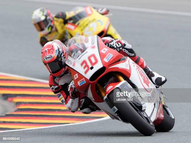 Moto2 Fahrer Takaaki Nakagami Japan Kalex waehrend des Trainings beim MotoGP auf dem Sachsenring in HohensteinErnstthal Deutschland Deutschland...