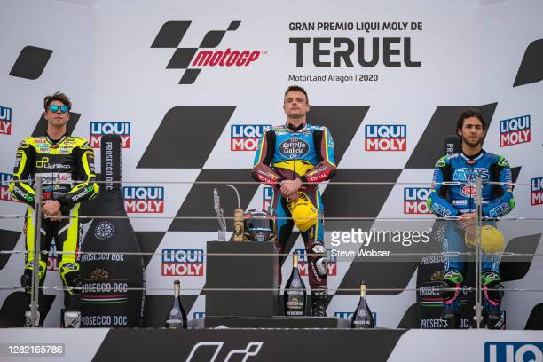 Moto2 rider Sam Lowes of Great Britain and EG 00 Marc VDS Moto2 rider Fabio Di Giannantonio of Italy and MB Conveyors Speed Up and Moto2 rider Enea...