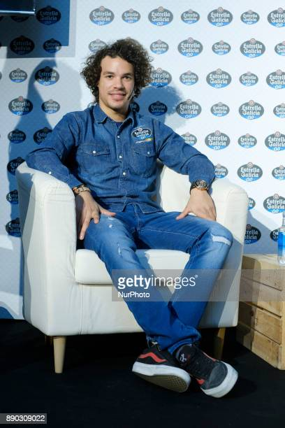 Moto2 World Champion Franco Morbidelli of Italy pose for photographers during an advertising event held in Madrid Spain 11 December 2017