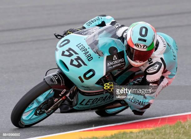 Moto3 Fahrer Andrea Locatelli Italien KTM waehrend des Trainings beim MotoGP auf dem Sachsenring in HohensteinErnstthal Deutschland Deutschland...