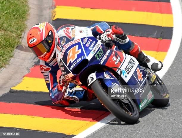 Moto3 Fahrer Fabio Di Giannantonio Italien Honda waehrend der Qualifikation beim MotoGP auf dem Sachsenring in HohensteinErnstthal Deutschland...